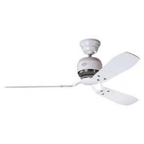 Tribeca Ceiling Fan in White with Three White / Maple Switch Blades Hunter Fans