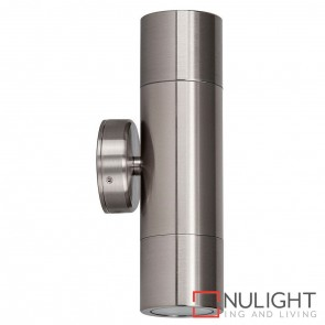 316 Stainless Steel Up/Down Wall Pillar Light 2X 5W Gu10 Led Warm White HAV
