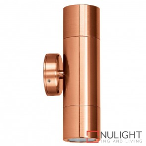 Solid Copper Up/Down Wall Pillar Light 2X 10W Gu10 Led Warm White HAV