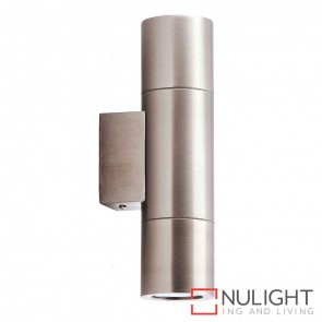 Stainless Steel Up/Down Wall Pillar Light 2X 5W Gu10 Led Warm White HV1071W HAV
