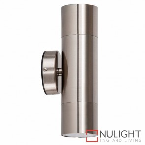 Stainless Steel Up/Down Wall Pillar Light 2X 5W Gu10 Led Warm White HV1072W HAV