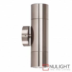Titanium Coloured Aluminium Up/Down Wall Pillar Light 2X 10W Gu10 Led Warm White HAV