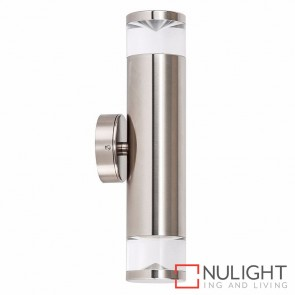 Titanium Coloured Aluminium Up/Down Wall Pillar Light 2X 5W Mr16 Led Warm White HV1089W-TTM-12V HAV