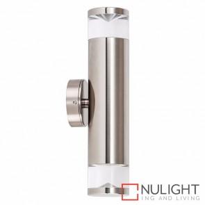 Titanium Coloured Aluminium Up/Down Wall Pillar Light 2X 5W Gu10 Led Warm White HAV