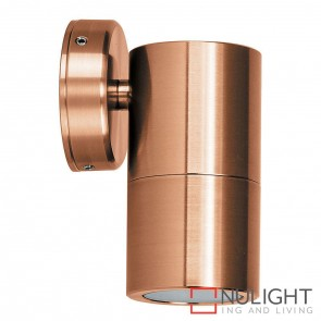 Solid Copper Single Fixed Wall Pillar Light 10W Gu10 Led Warm White HAV