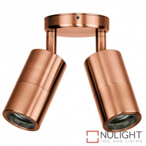 Solid Copper Double Adjustable Wall Pillar Light 2 X 5W Mr16 Led Warm White HAV