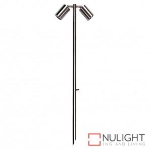 316 Stainless Steel 1000Mm Double Adjustable Garden Spike Spotlight 5W Mr16 Led Cool White HAV