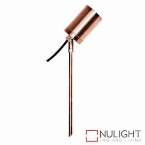 Solid Copper Single Adjustable Garden Spike Spotlight 5W Mr16 Led Warm White HV1412W HAV