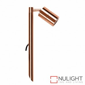 Solid Copper Single Adjustable Garden Spike Spotlight 5W Mr16 Led Warm White HV1413W HAV