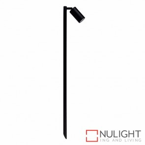 Black 1000Mm Single Adjustable Garden Spike Spotlight 5W Mr16 Led Cool White HAV