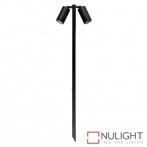 Black 1000Mm Double Adjustable Garden Spike Spotlight 2X5W Mr16 Led Warm White HAV