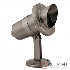 Stainless Steel Garden Spike Or Surface Mounted Spotlight With Hood 5W Mr16 Led Warm White HAV