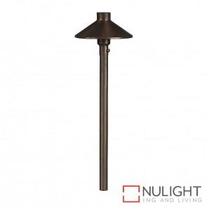 Antique Brass Garden Bollard Light With Spike 3.2W G4 Led Warm White HAV