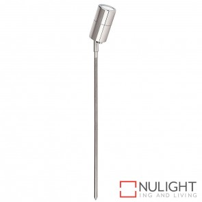 Silver Coloured Aluminium Single Adjustable Garden Spike Spotlight 5W Mr16 Led Cool White HAV
