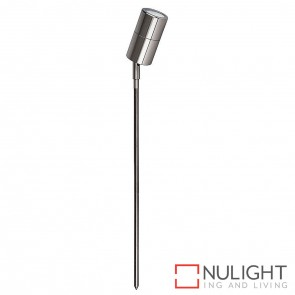 Titanium Coloured Aluminium Single Adjustable Garden Spike Spotlight 5W Mr16 Led Cool White HAV