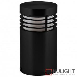 190Mm Black Mini Bollard Light 9W E27 Led Warm White HAV