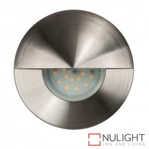 316 Stainless Steel Recessed Round Wall / Steplight With Eyelid 5W Gu10 Led Cool White HAV