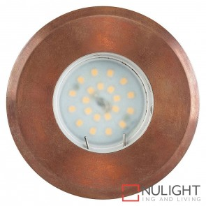Copper Recessed Round Wall / Inground 5W Mr16 Led Warm White HAV