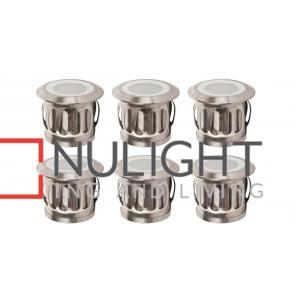 6 X 316 Stainless Steel Round Mini Deck Light Kit 6 X 0.5W Led Rgb + Driver HAV
