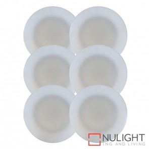 6 X Uton Soft White Pc Round Mini Deck Light Kit 6 X 0.5W Led Warm White + Driver HAV