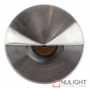 316 Stainless Steel Recessed Round Wall / Steplight With Eyelid 1W 12V Led Warm White HAV