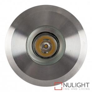 316 Stainless Steel Recessed Round Wall / Inground 1W 12V Led Warm White HAV