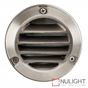 316 Stainless Steel Round Surface Mounted Louvred Steplight G4 12V HAV