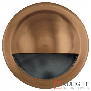 Copper Round Surface Mounted Steplight With Large Eyelid 2.3W 12V Led Cool White HAV
