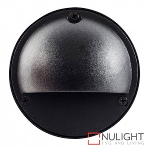 Black Round Surface Mounted Steplight With Eyelid G4 HAV