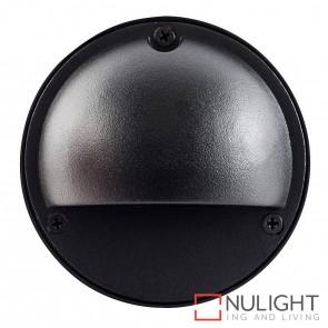 Black Round Surface Mounted Steplight With Eyelid G4 HAV