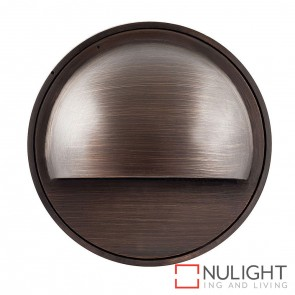 Antique Brass Round Surface Mounted Steplight With Eyelid 1.4W  G4 Led Warm White HAV