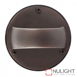Antique Brass Round Surface Mounted Up/ Down Steplight 1.4W G4 Led Cool White HAV