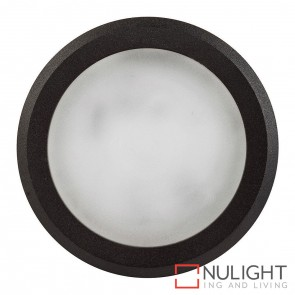 Black Round Surface Mounted Steplight 5W 12V Led Cool White HAV