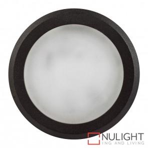 Black Round Surface Mounted Steplight 5W 12V Led Cool White HAV