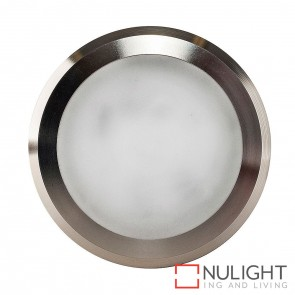 Titanium Coloured Aluminium Round Surface Mounted Steplight 5W 240V Led Cool White HAV