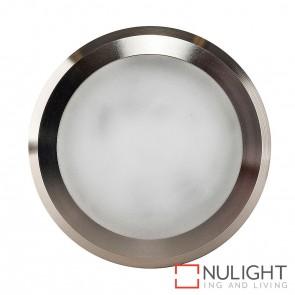 Titanium Coloured Aluminium Round Surface Mounted Steplight 5W 240V Led Cool White HAV