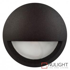 Black Round Surface Mounted Steplight With Eyelid 5W 12V Led Warm White HAV