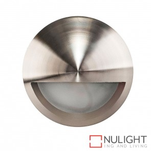 Titanium Coloured Aluminium Round Surface Mounted Steplight With Eyelid 5W 12V Led Cool White HAV
