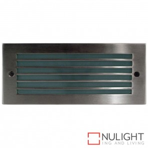 316 Stainless Steel Recessed Bricklight With Grill 10W 240V Led Cool White HAV