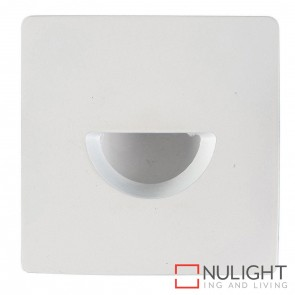 White Square Recessed Steplight 3W 240V Led Warm White HAV