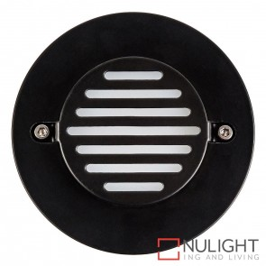Black Round Recessed Steplight 3W 12V Led Cool White HAV