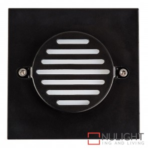 Black Square Recessed Steplight 3W 12V Led Cool White HAV