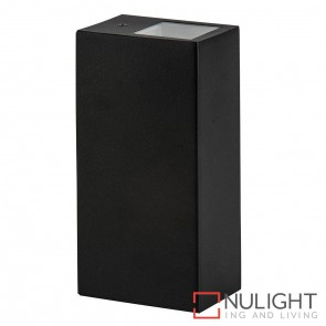 Black Square Surface Mounted Wall Light 2X 5W Gu10 Led Cool White HAV