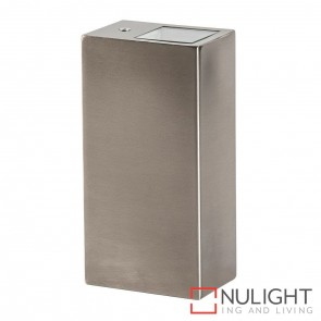 316 Stainless Steel Square Surface Mounted Wall Light 2X 5W Gu10 Led Warm White HAV