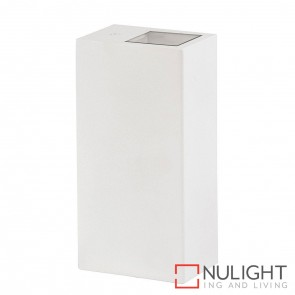White Square Surface Mounted Wall Light 2X 5W Gu10 Led Cool White HAV
