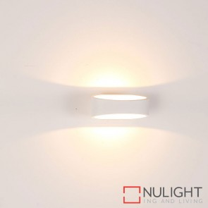 White Oval Tapered Surface Mounted Wall Light 9W 240V Led Cool White HAV