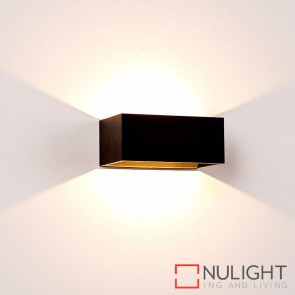 Black Square Surface Mounted Wall Light 9W 240V Led Warm White HAV