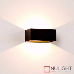 Black Square Surface Mounted Wall Light 9W 240V Led Cool White HAV