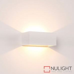 White Square Surface Mounted Wall Light 9W 240V Led Warm White HAV