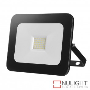Aray Black Flood Light 30W 240V Led Cool White HAV